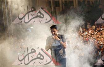 حماقي يشارك جمهوره الغناء في المنصورة   صور