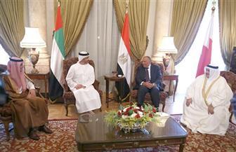 بدء المؤتمر الصحفي لوزراء خارجية الرباعي العربي بخصوص قطر