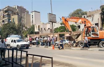 كثافات مرورية بشارع شبرا بسبب كسر ماسورة مياه رئيسية | صور