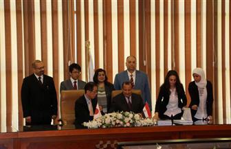 توقيع عقد إنشاء مبنى ركاب جديد بمطار برج العرب بتكلفة٢٦.٤ مليار ين ياباني | صور