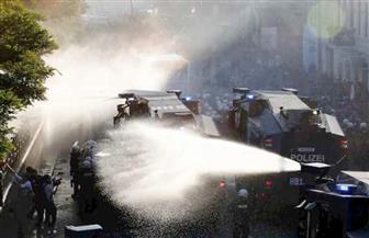 الشرطة الألمانية تستخدم مدفع مياه ضد مظاهرة مناهضة لمجموعة العشرين