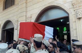 تشييع جثمان الشهيد محمود عبدالفتاح في جنازة عسكرية بمسقط رأسه فى بسيون بالغربية