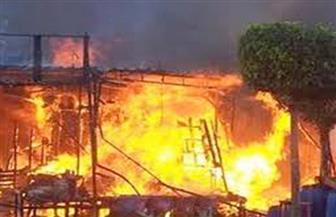 نفوق 35 رأس ماشية في حريق منزلين بأبنوب