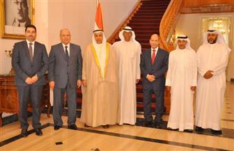 رئيس مجلس الدولة يستقبل وفد المجلس الأعلى للقضاء بدولة الكويت