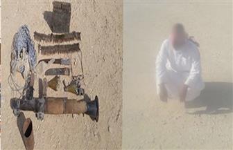 المتحدث العسكري: القبض على  تكفيري والتحفظ على  كمية من الأسلحة والذخائر وتدمير عبوة  ناسفة بوسط سيناء