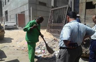حملة لإزالة الإشغالات وأخرى للنظافة بحى شرق شبين الكوم بالمنوفية | صور