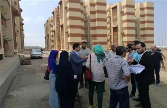 لجنة من وزارة الإسكان لمعاينة 3 مواقع لاستكمال مشروع الإسكان الاجتماعي بدمياط  صور