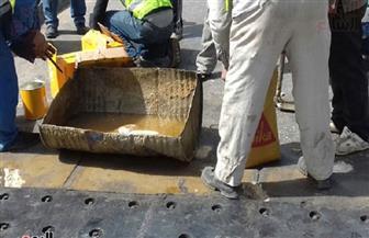 كثافات مرورية بكوبري أكتوبر بسبب أعمال تطوير واصلاح الفواصل الحديدية