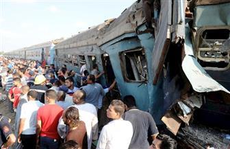 اصطدام قطار بسيارة نقل محملة بالرمال ووفاة قائدها بالمنيا