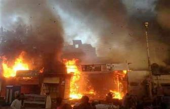 160 ألف جنيه للأسر المتضررة من حريق منازلهم جنوبي الأقصر| صور