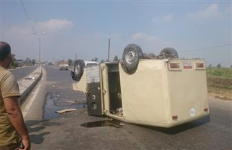 إصابة شخصين في انقلاب سيارة نقل أموال على الطريق الدولي بكفرالشيخ