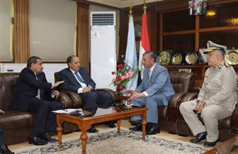 محافظ كفر الشيخ يبحث مع مدير الأمن ملفات إزالة التعديات على أملاك الدولة وبحيرة البرلس ونهر النيل