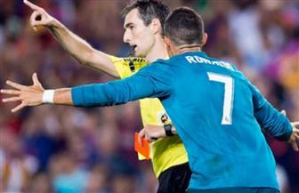 """إيقاف كريستيانو رونالدو 5 مباريات لتعديه على حكم """"الكلاسيكو"""""""
