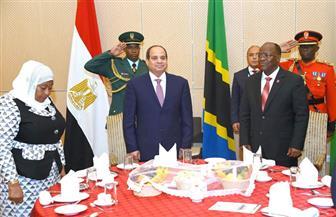 الرئيس التنزاني يقيم حفل عشاء رسمي على شرف السيسي   صور