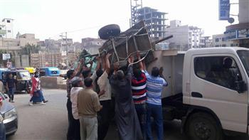 """إزالة 318 حالة إشغال و16 حاجزا خرسانيا فى حملة لـ """"مرافق الغربية"""""""