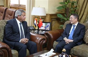 عبدالعزيز يستقبل السفير الصيني بالقاهرة لتفعيل برامج التبادلات الشبابية