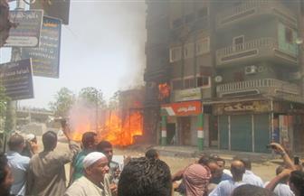 حريق بصالة ألعاب رياضية بالمنصورة وامتداد النيران لشقتين بالعقار