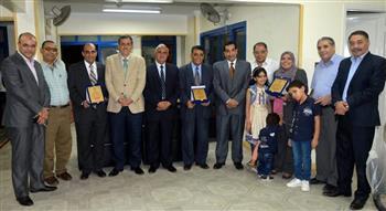 نقابة العلميين بوسط الدلتا تكرم أعضائها الحاصلين على جوائز جامعة طنطا | صور