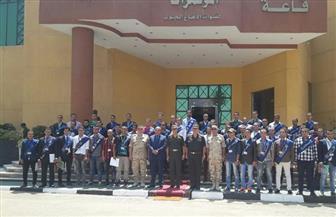 رئيس جامعة الأزهر ووفد طلابي يزورون قيادة الدفاع الجوى