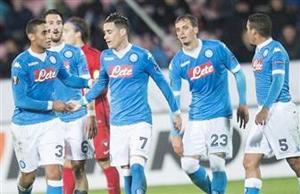 نابولي يفوز على شاختار بثلاثية ويتشبث بأمل الصعود في دوري الأبطال
