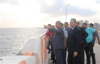 محافظ كفر الشيخ يتفقد أعمال تطوير كورنيش بحيرة البرلس بتكلفة 24 مليون جنيه | صور وفيديو
