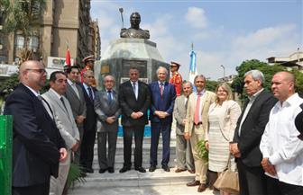 محافظ الجيزة يشارك الأرجنتين إحياء ذكرى سان مارتين | صور