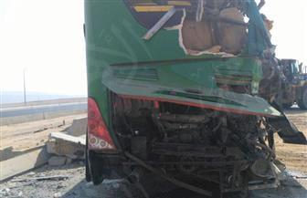 """6 حالات خطرة في حادث """"أتوبيسي السويس"""" ونقل 46 مصابًا إلى 3 مستشفيات"""