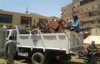 """حملة لرفع الإشغالات بمدينة """"موط"""" بمركز الداخلة"""
