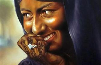 لوحات بالحبر الجاف والرصاص بمعرض جماعي بمركز محمود مختار | صور