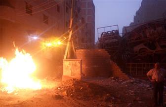 السيطرة على حريق ناتج عن تسرب للغاز بالهرم | فيديو وصور