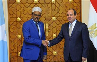 السيسي لرئيس الصومال: ثوابت سياستنا الخارجية تقوم على عدم التدخل في شئون الدول الأخرى