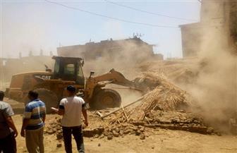 إزالة 15 حالة تعدٍ على أراضي أملاك دولة بمركز طما في سوهاج