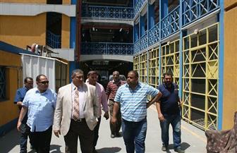 نائب محافظ القاهرة يتفقد سوق الزاوية الحمراء ويعاين أنظمة الإطفاء