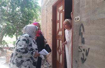 """القومي للمرأة بالمنيا ينفذ حملة """"طرق الأبواب"""" بـ 13 قرية لمساندة الدولة المصرية"""