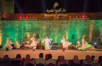 """فرقة """"المولوية المصرية"""" تبدأ حفلها بالقلعة.. وتفاعل جماهيري من الحضور"""