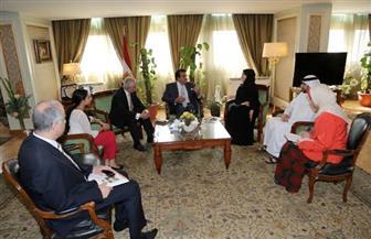 عبدالغفار وشوقي يبحثان آليات التعاون مع الإمارات فى المجالات الثقافية والبحثية