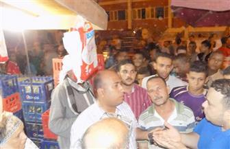 رئاسة أبنوب تواصل حملاتها لإزالة الإشغالات من الشوارع | صور
