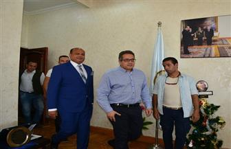 """محافظ مطروح يستقبل وزير الآثار لافتتاح متحف """"كهف روميل"""""""