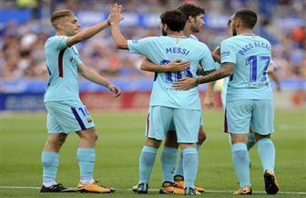 ميسي يقود برشلونة للفوز على ديبورتيفو ألافيس 2-0