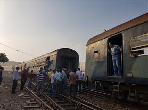 انفصال 4 عربات عن قطار بالقرب من محطة سكك حديد طنطا