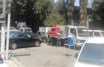 حملة إشغالات بشارع النور وشارع وزارة الزراعة بالدقي | صور