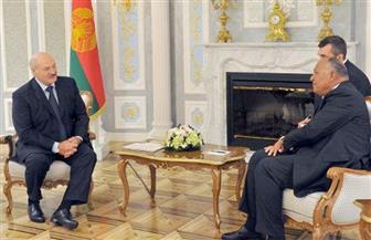 """""""شكري"""" يسلم رئيس بيلاروسيا رسالة من الرئيس السيسي"""