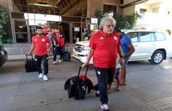 بعثة المنتخب تتوجه لمطار برج العرب استعدادا للمغادرة إلى أوغندا | صور