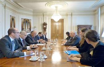 وزير الخارجية يلتقي رئيسي مجلسي النواب والشيوخ الروماني   صور
