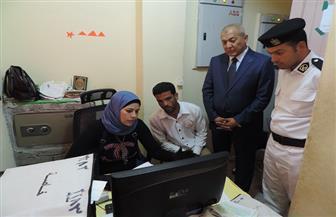 مدير أمن مطروح يتفقد إدارة مرور مطروح ويؤكد على حسن معاملة المواطنين