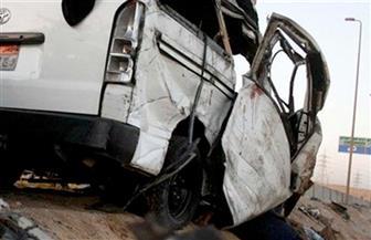 مصرع شخصين في اصطدام ميكروباص بسيارة نقل ثقيل على طريق الإسكندرية الصحراوي