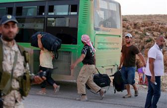 دخول 10 حافلات من مهجري كفريا والفوعة إلى معبر العيس في ريف حلب الجنوبي بسوريا