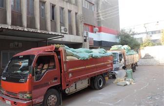 ضبط 13 طن دقيق بلدي بمخزن غير مرخص بالفيوم | صور