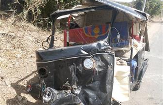 مصرع مواطن وإصابة  شخصين آخرين فى حادث تصادم  بالفيوم