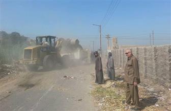 رفع 80 طن مخلفات بقرية بني قرة في القوصية | صور